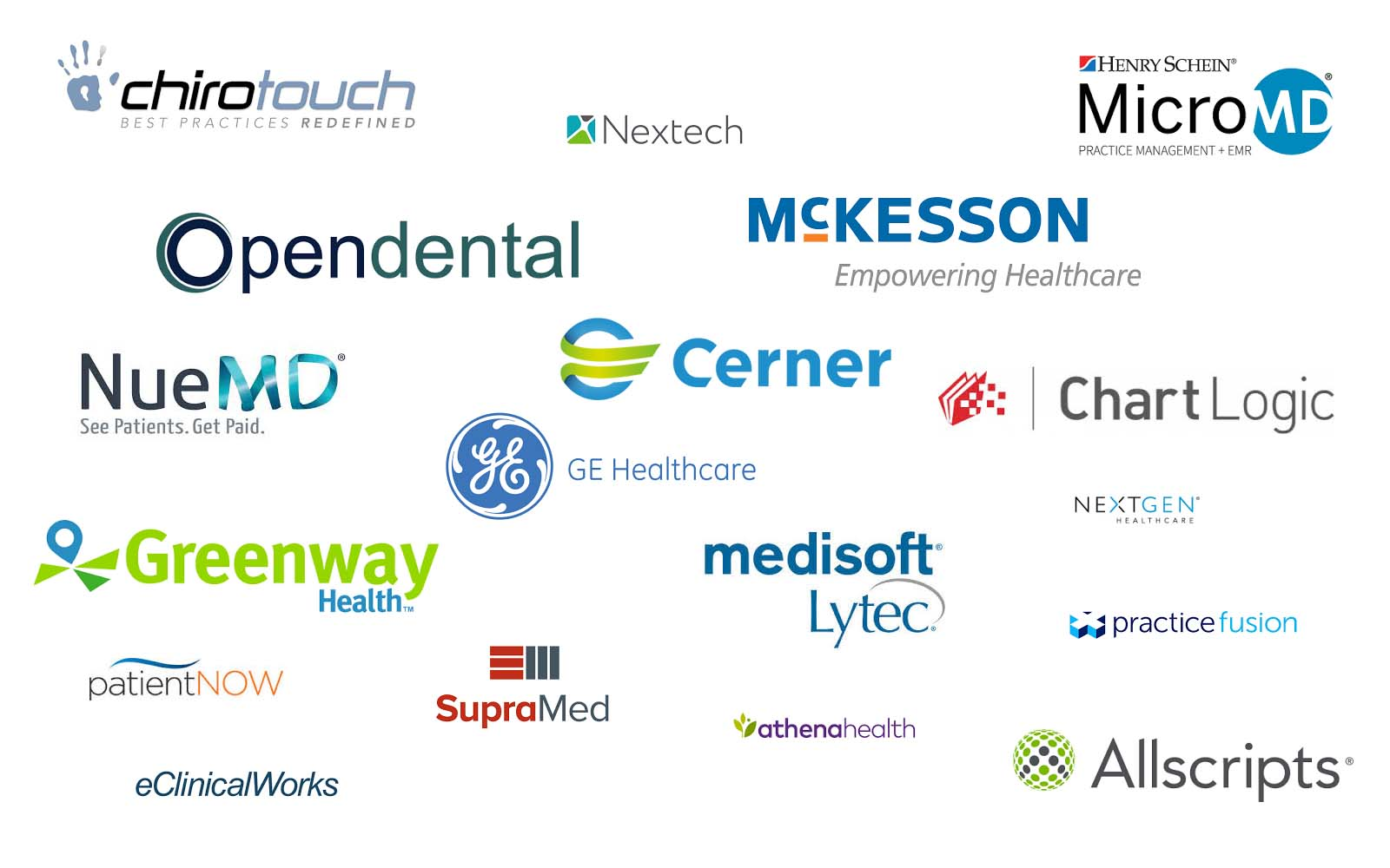 SMARTMD works with many EHR and EMRs